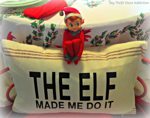 The elf made me do it pillow