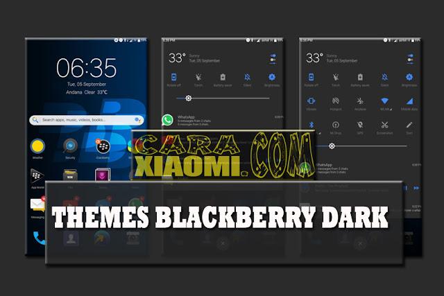 Themes MIUI Blackberry Dark Update V1.1 [V9 Theme] For Xiaomi
