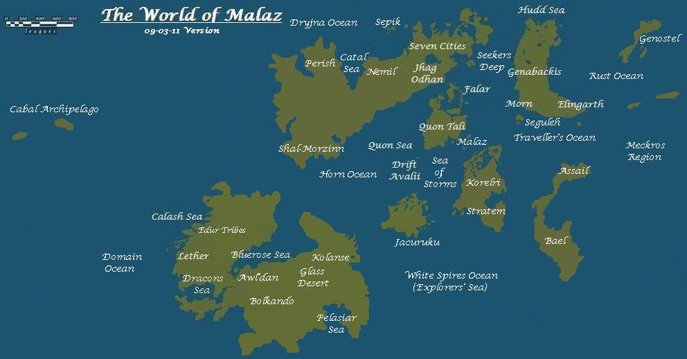 The Wertzone Latest Version Of The Malazan World Map