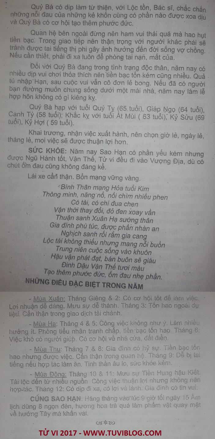 Xem tuoi Binh Than 1956 nam 2017