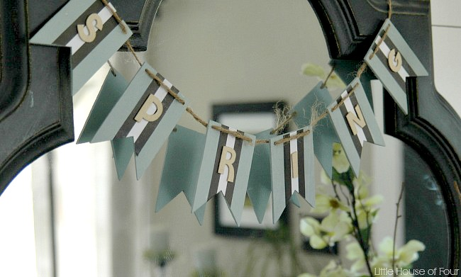 DIY wood spring garland