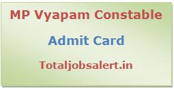 MP Vyapam Constable Admit Card