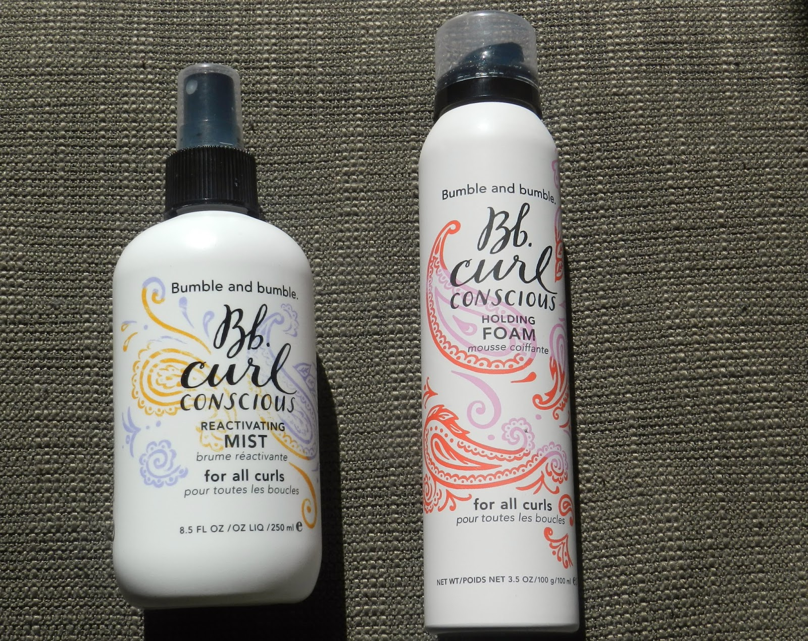 Bumble and Bumble Curl Conscious Reactivating Mist and Holding Foam