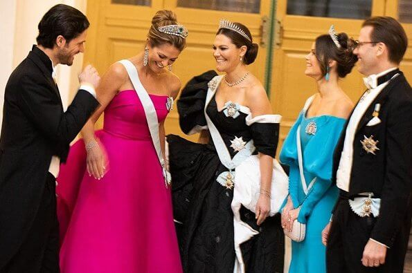 King Carl Gustaf, Queen Silvia, Crown Princess Victoria, Prince Daniel, Prince Carl Philip, Princess Sofia and Princess Madeleine