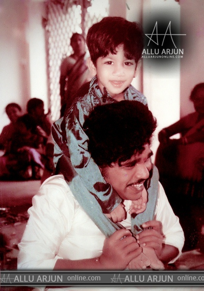 Actor Allu Arjun Childhood Pics
