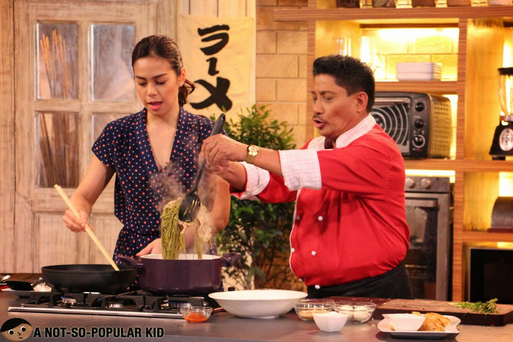 Chef Boy Logro with Bettinna Carlos preparing the Soba Noodle Soup