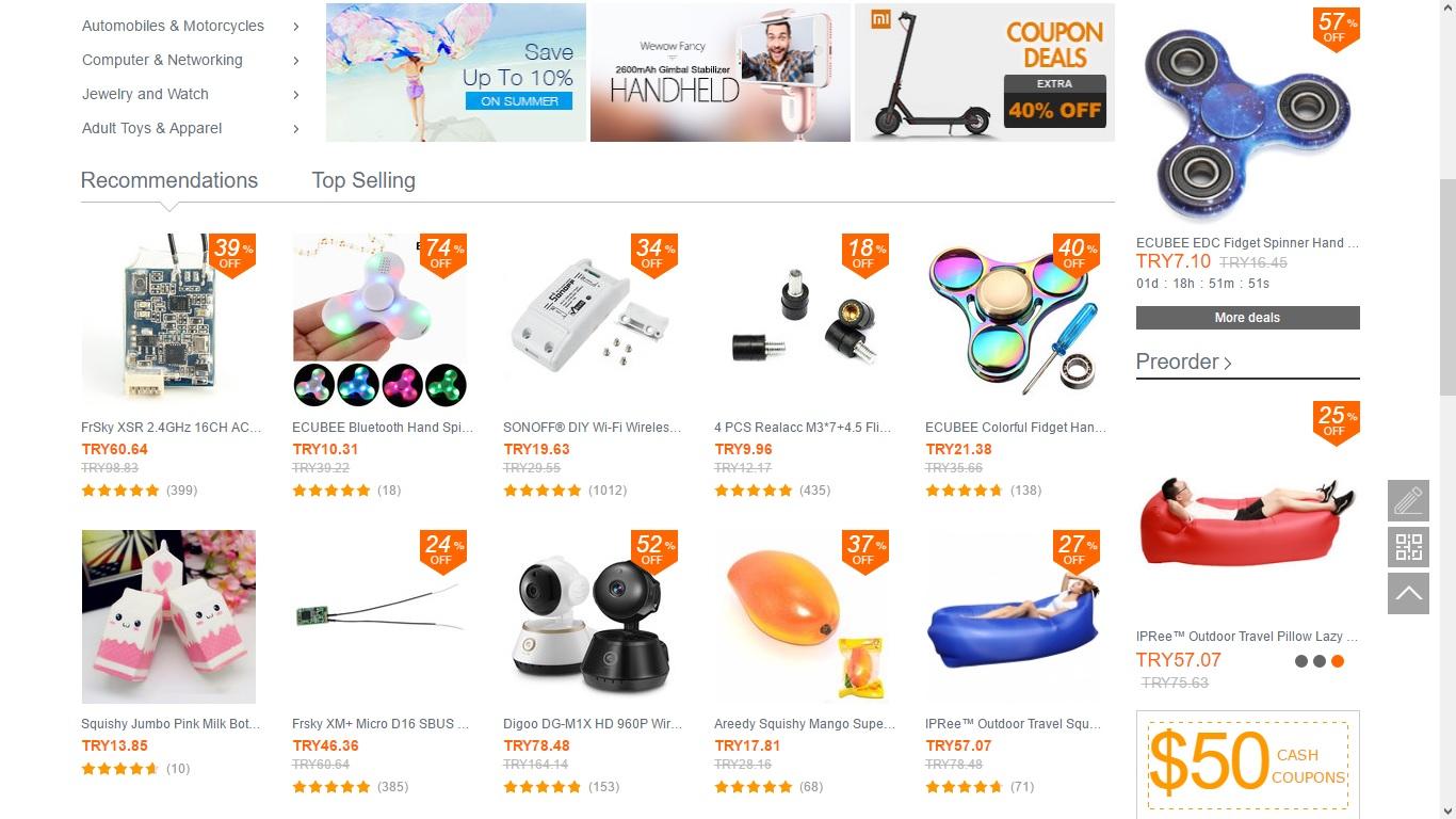 En Güvenilir Çin Alışveriş Siteleri - Banggood
