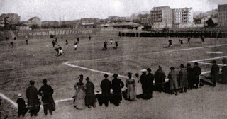 Photo of a football match at the Velodromo Umberto I