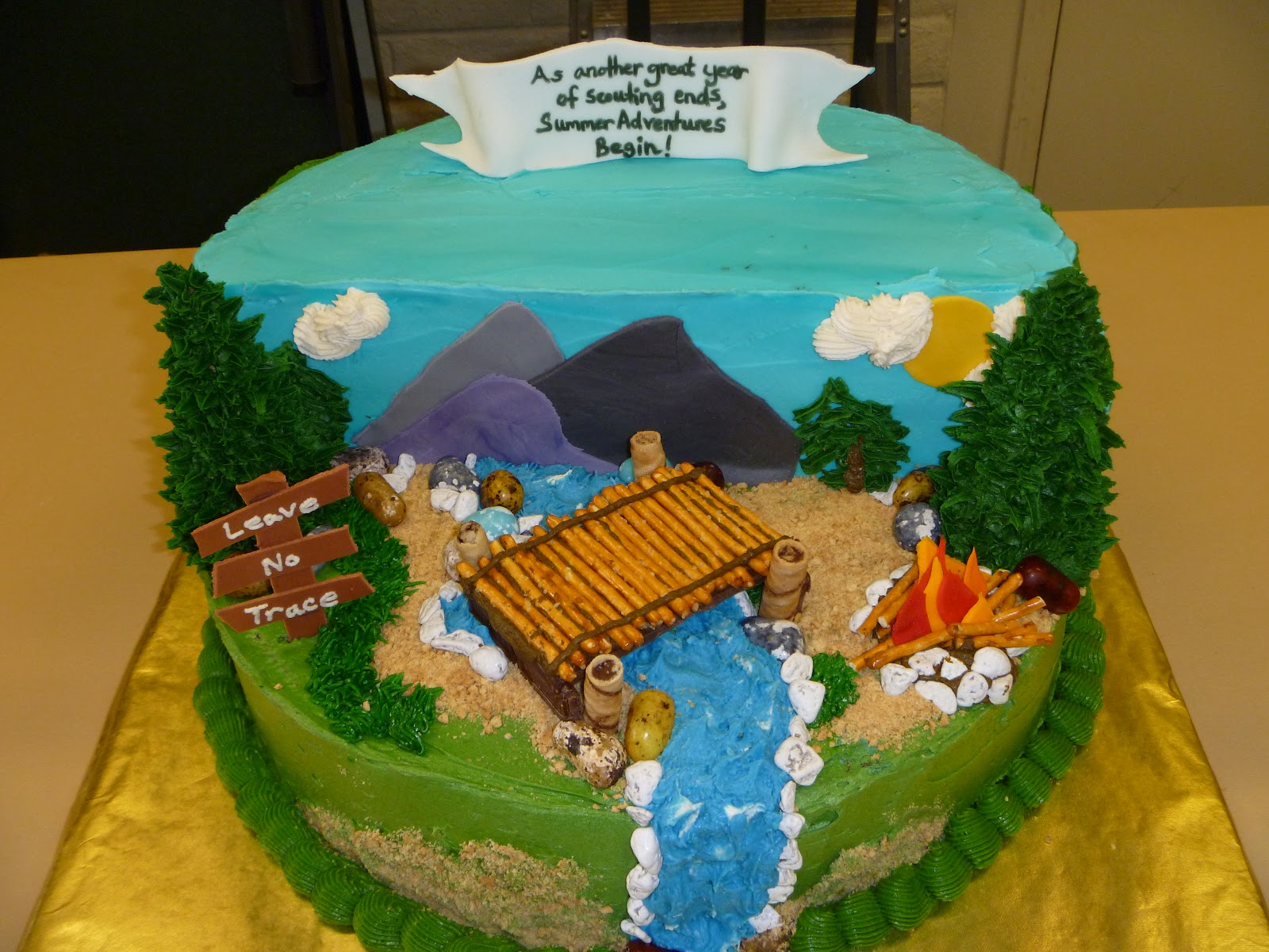 Cub Scout Crossover Cake