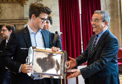 La victoire finale éclatante de Magnus Carlsen à Louvain - Photo © site officiel