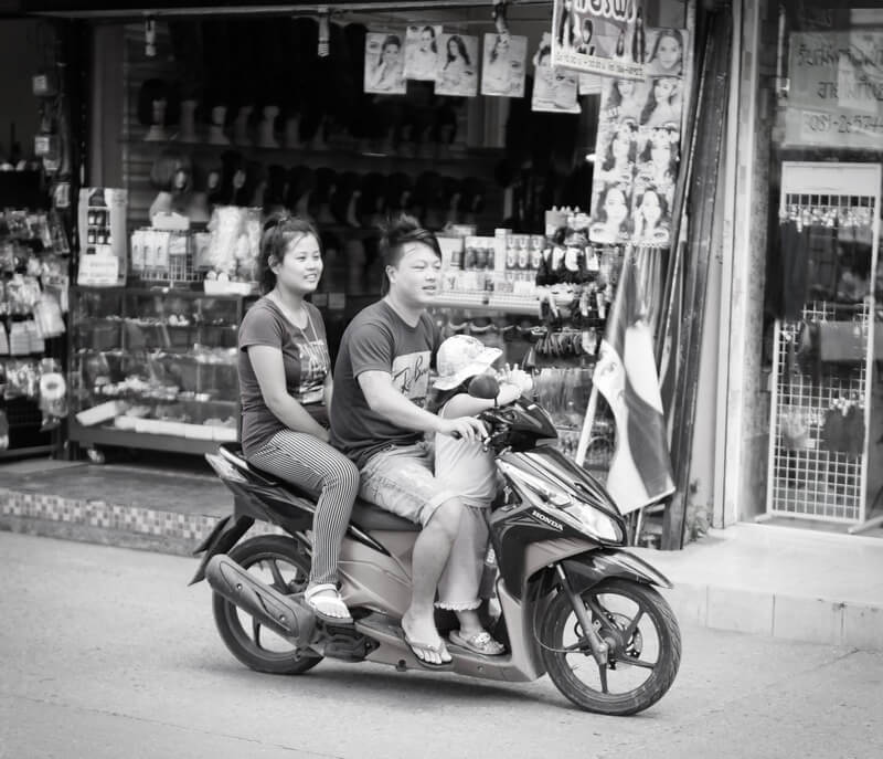 black and white photo chiang mai