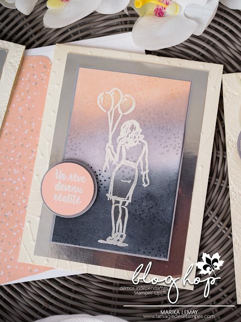 carte de mariage blog hop des démonstratrices francophones Stampin' Up!