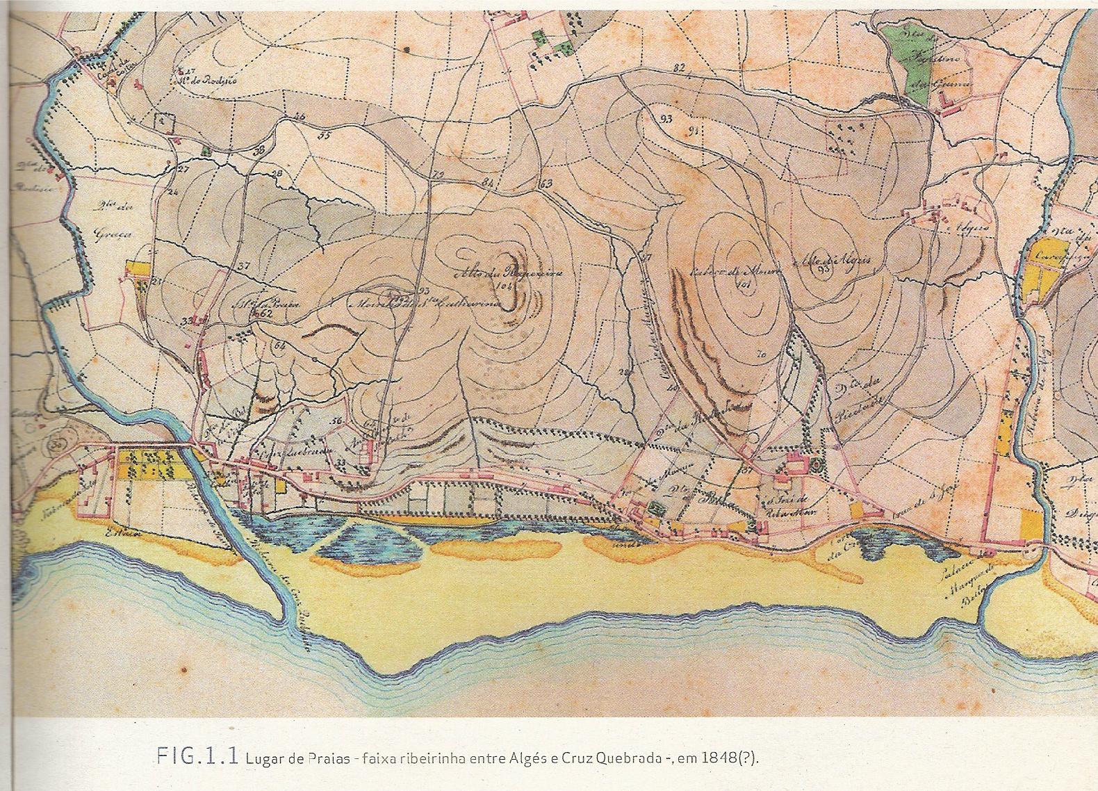 mapa de algés miraflores A Gazeta de Miraflores: A Freguesia de Algés em 1848 mapa de algés miraflores