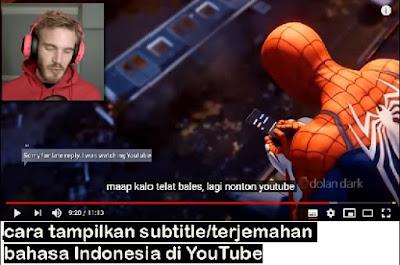 Cara Tampilkan Subtitle/Terjemahan Bahasa Indonesia Pada Video YouTube