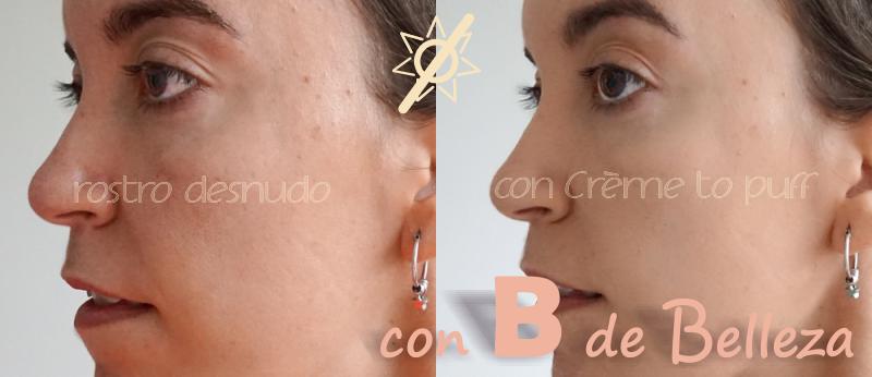 Antes y después aplicación polvos