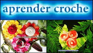 flores em croche enroladas aprendercroche edinircrochevideos loja dvd