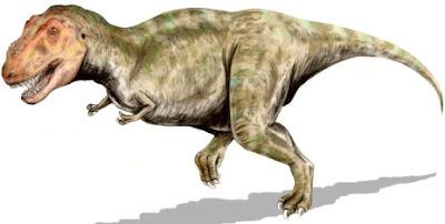 Dibujo del Tiranosaurio corriendo