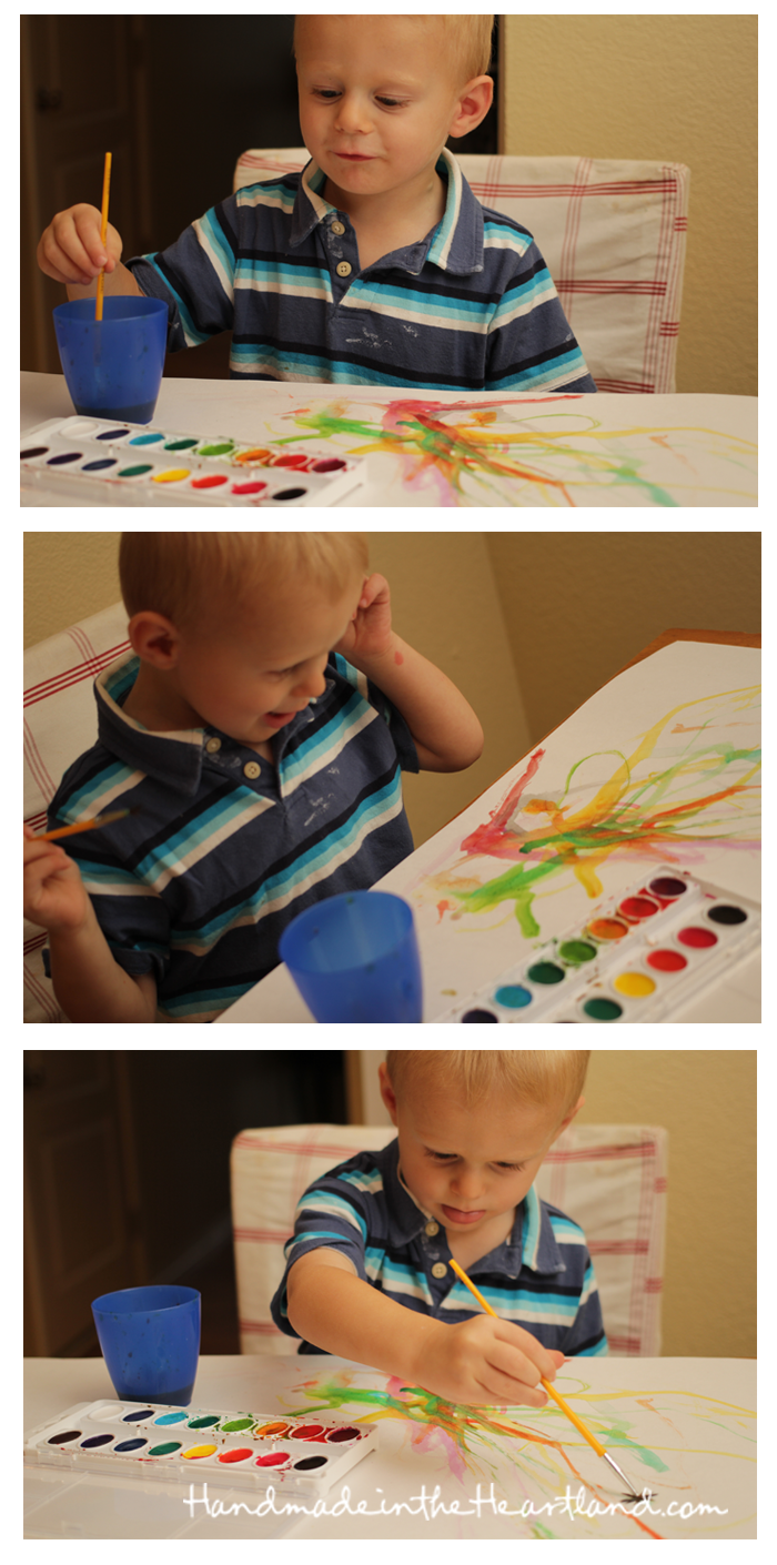 Creativity in Kids, Painting with toddlers