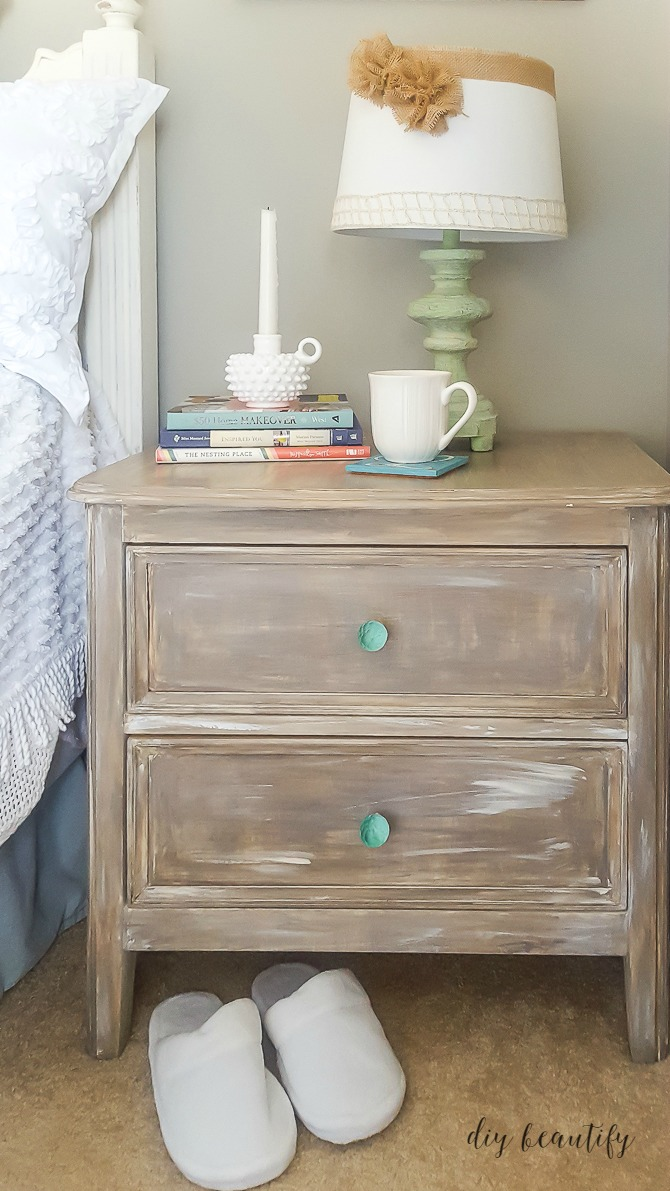 driftwood painted nightstand