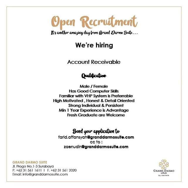 lowongan kerja account receivable grand darmo suite