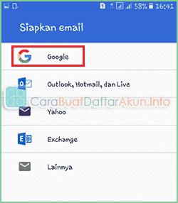 Contoh Buat Email Baru Gmail lewat Hp Daftar di Aplikasi