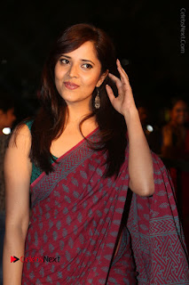 Telugu Television Anchor Anasuya Stills in Saree at Gemini TV Puraskaralu 2016 Event  0011.JPG