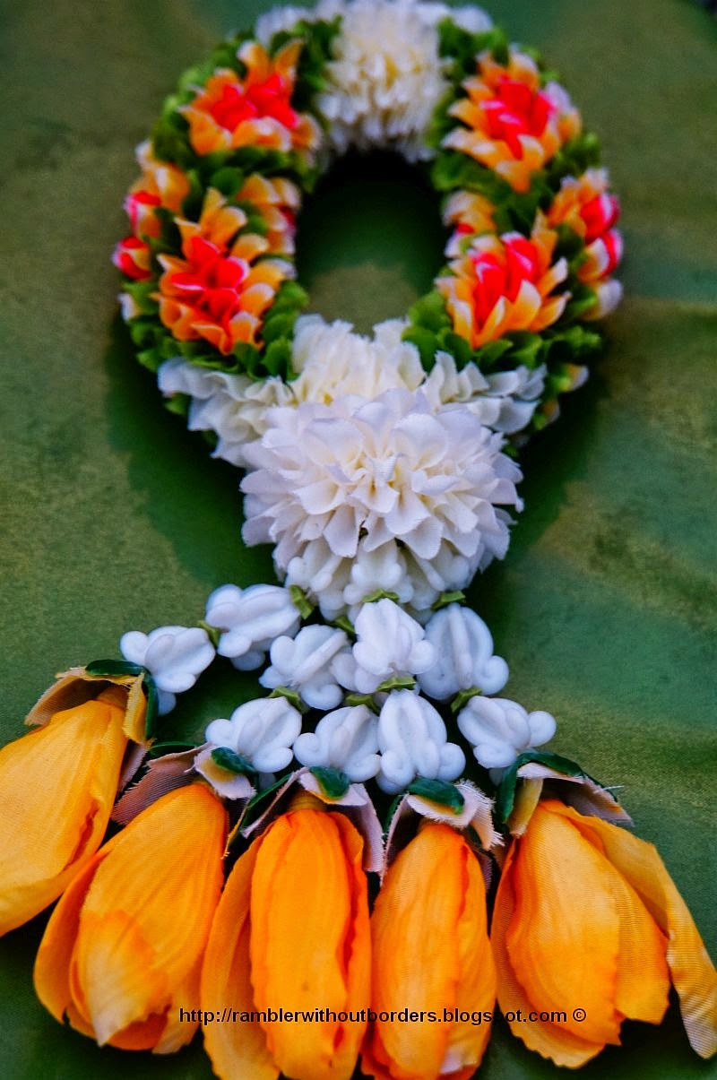 Thai craft of making object that he made from flowers