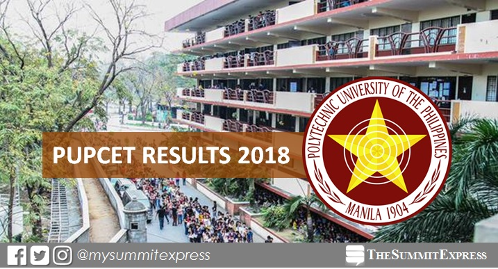 LIST OF PASSERS: PUPCET Results AY 2018-2019 release online