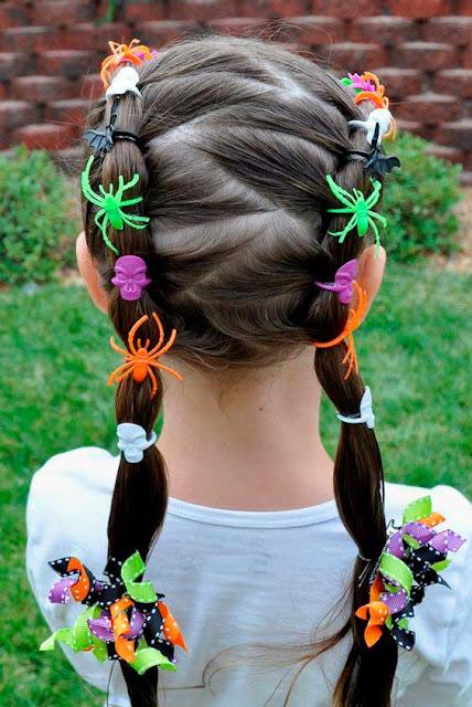 Halloween idéias para penteados