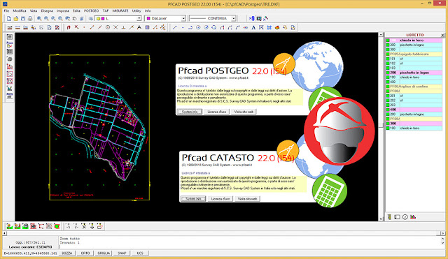Survey CAD System pfCAD Catasto v22.0