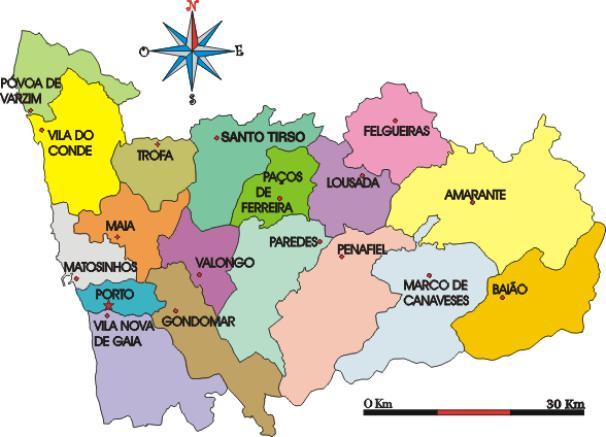 mapa porto e arredores PORTO, DE AGOSTINHO REBELO DA COSTA AOS NOSSOS DIAS: GOVERNO  mapa porto e arredores