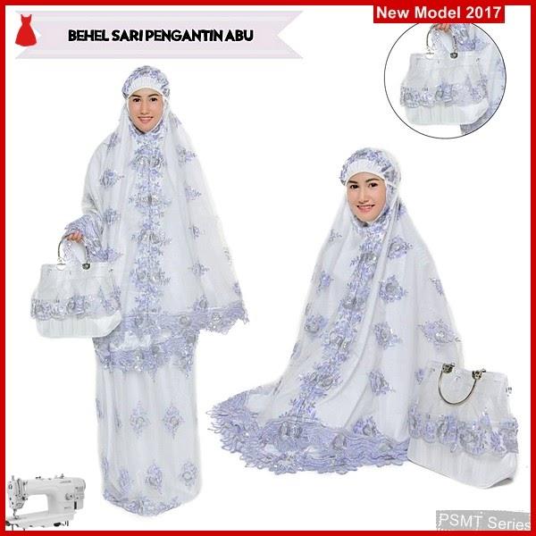 PSMT015A Mukena Behel More Sari Proto Abu 45 000