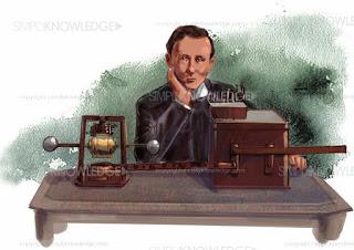 Biografi Guglielmo Marconi - Penemu Radio                                                                                   Kalian semua pasti kenal dengan radio, benda kecil yang bisa mengeluarkan suara, alat kecil yang bisa menyebarkan berita. Pada zaman dahulu, radio ini sangat tenar  dan terkenal, banyak orang zaman dahulu mendengarkan informasi dari radio. Banyak juga yang mendengarkan lantunan lagu lagu dari radio, sehingga pada zaman itu radio sangat dibutuhkan. Akan tetapi, di era modern sekarang ini radio sudah masuk ke dalam handphone, sehingga orang bisa mendengarkan radio lewat handphone. Radio juga merupakan alat komunikasi yang tidak menggunakan kabel sebagai media pengantara. Radio hanya menggunakkan gelombang radio untuk mengirimkan suara. Radio juga dapat di aplikasikan menjadi komunikasi satu arah, komunikasi dua arah maupun komunikasi bergantian. Radio hanya bisa menerima dan memilih siaran dari pemancar radio.  Isyarat harus antara pengirim dan penerima harus dilakukan secara bergantian. Radio citizen band atau di kenal dengan radio CB terdapat komunikasi dua arah. Radio merupakan suatu media informasi audio memiliki tempat tempat tersendiri di benak orang yang suka mendengarkan radio. Radio digunakan manusia untuk mengirimkan signal dengan cara radiasi dan modulasi dan juga dengan cara gelombang elektromagnetik. Radiasi elektromagnetik radio terbentuk saat objek bermuatan listrik dari dan gelombang d