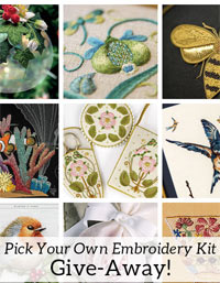 embroidery project kits for the give-away