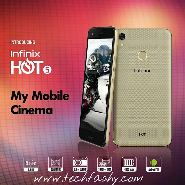 Infinix X559 Hot 5 And Hot 5 Lite Now Available On Jumia For N36,000 And N33,000 Respectively