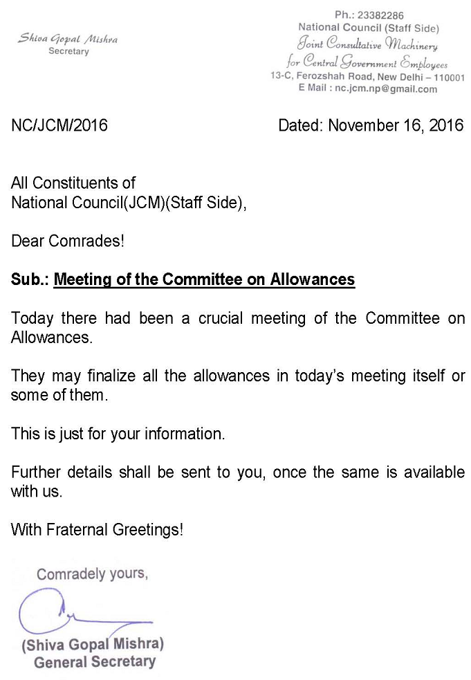 Committee on Allowance
