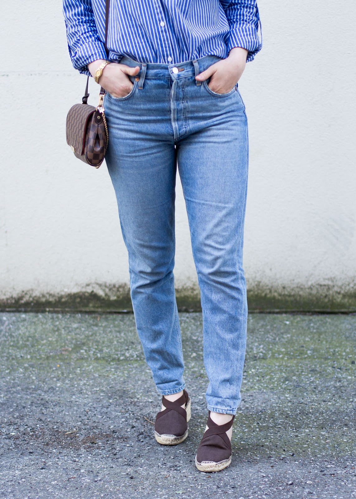 Vancouver Style blog - Summer outfit tips - AGOLDE denim - Louis Vuitton bag