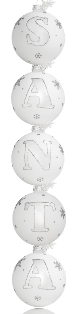 Holiday Lane Initial Ball Ornaments, Created for Macy's (sold separately)