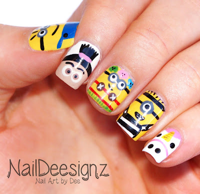 Despicable Me 3 Nail Art
