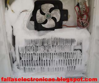 samsung  se llena de hielo el freezer