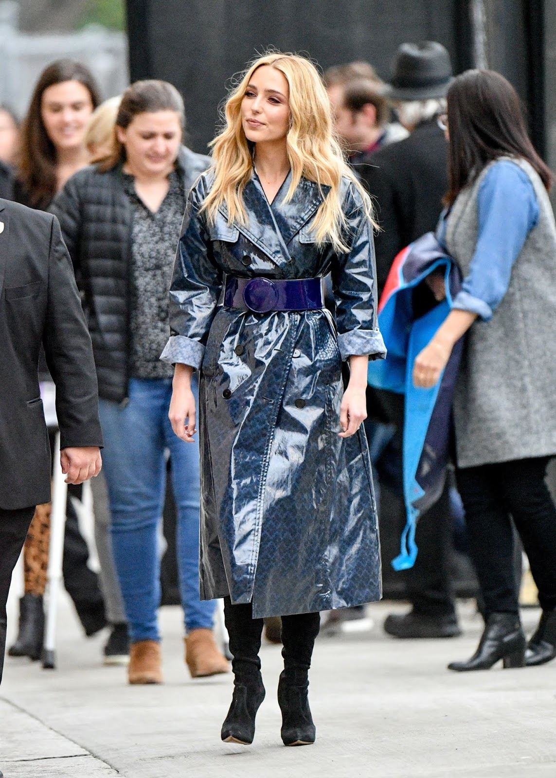 Jessica Rothe arrives at Jimmy Kimmel Live in Los Angeles - 02/13/2019