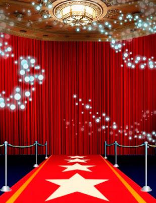 Tarjeta de Invitación para 15 Años Quinceañera estilo Alfombra Roja Red Carpet Invitation