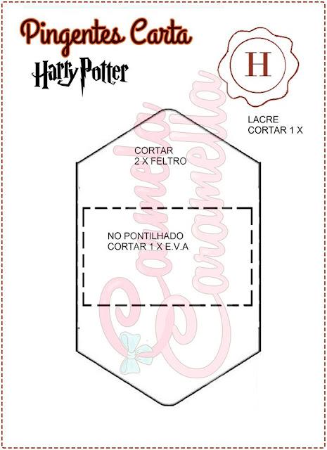 Pingente Envelope Harry Potter Com Molde Para Imprimir Como Fazer