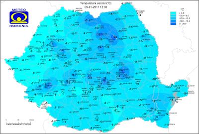 fagyriadó, Románia, extrém időjárás, ANM, időjárás előrejelzés,
