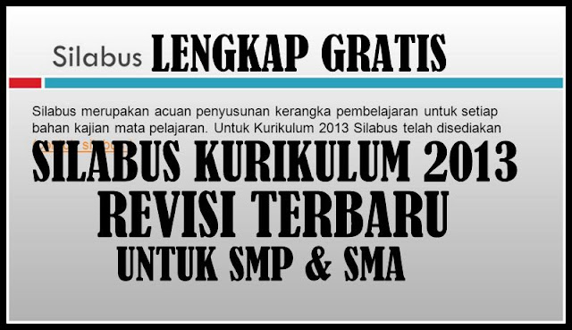 Download Silabus Kurikulum 2013 Untuk Jenjang SMP & SMA