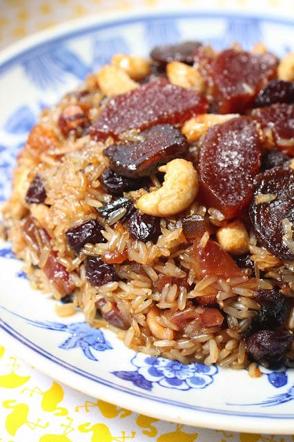 dessert chinois riz et fruits secs