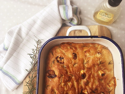 Honey, Goats' Cheese and Rosemary Focaccia