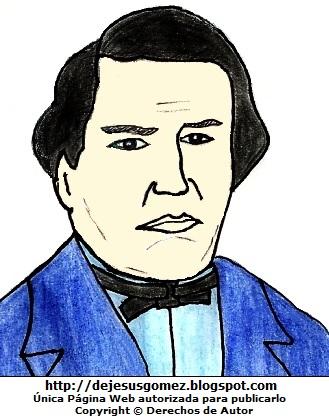 Imagen del compositor José de la Torre Ugarte para niños, dibujo de José de la Torre Ugarte a colores hecho por Jesus Gómez