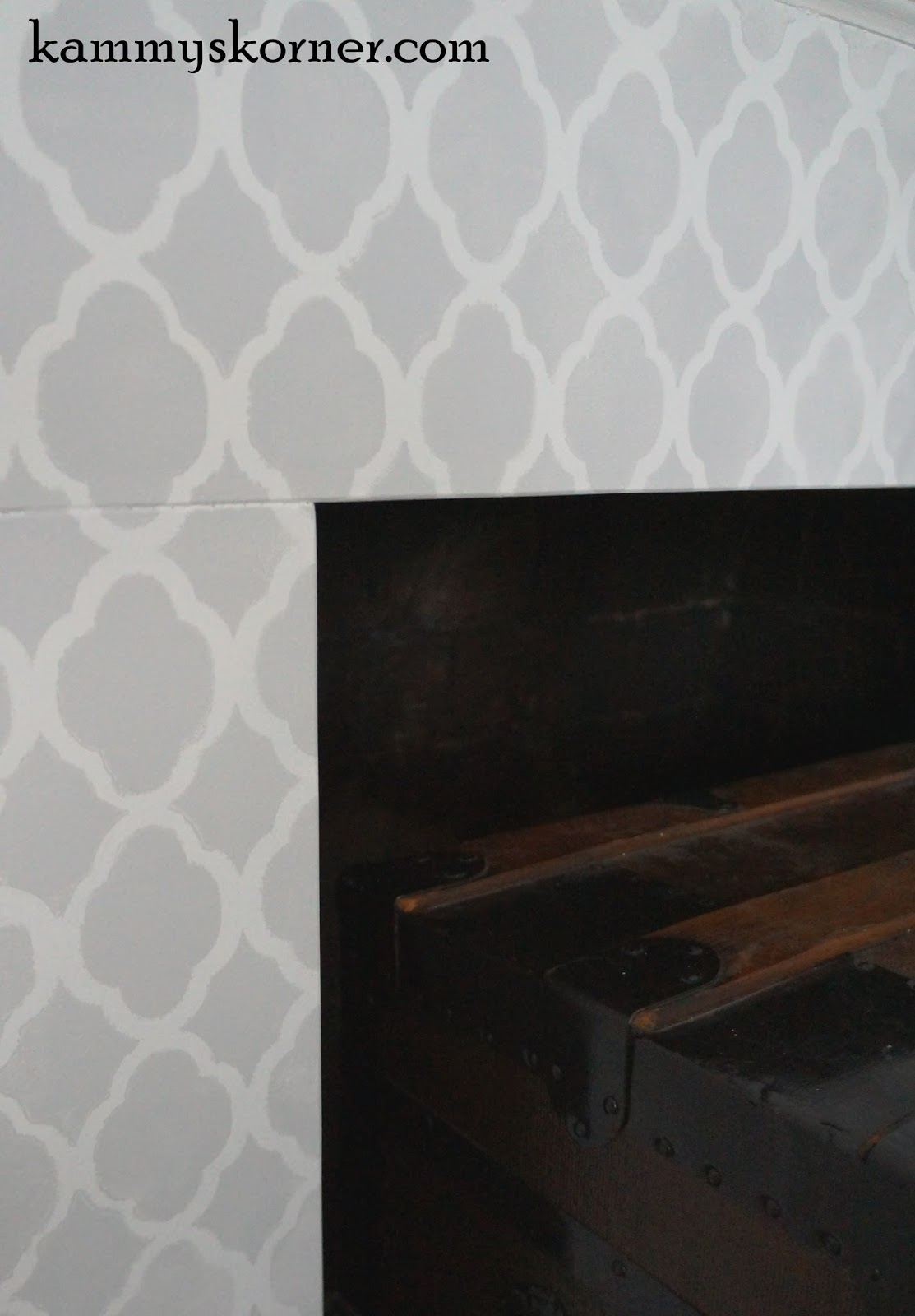 kammy u0027s korner stenciled granite fireplace surround update