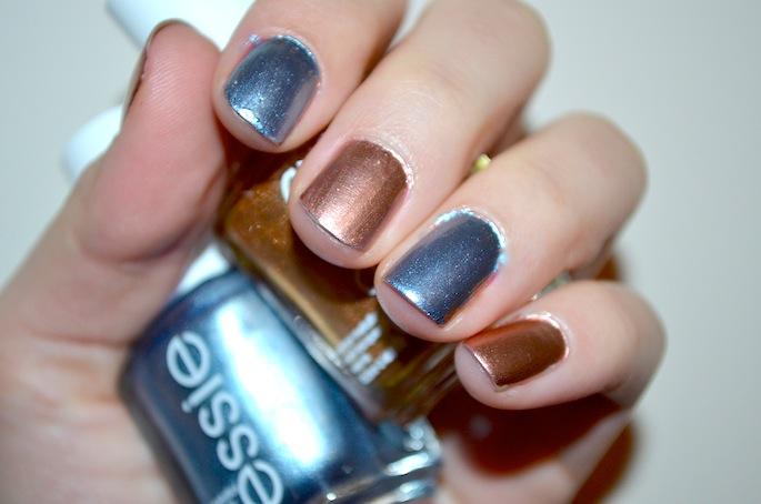 Essie Metallic Nail Polish Review, Essie Penny Talk Review, Essie Blue Rhapsody Review, Vancouver Beauty Blog, Vancouver Fashion Blog, Best Metallic Nail Polish